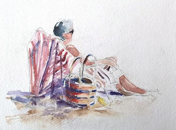 Croquis aquarellé
